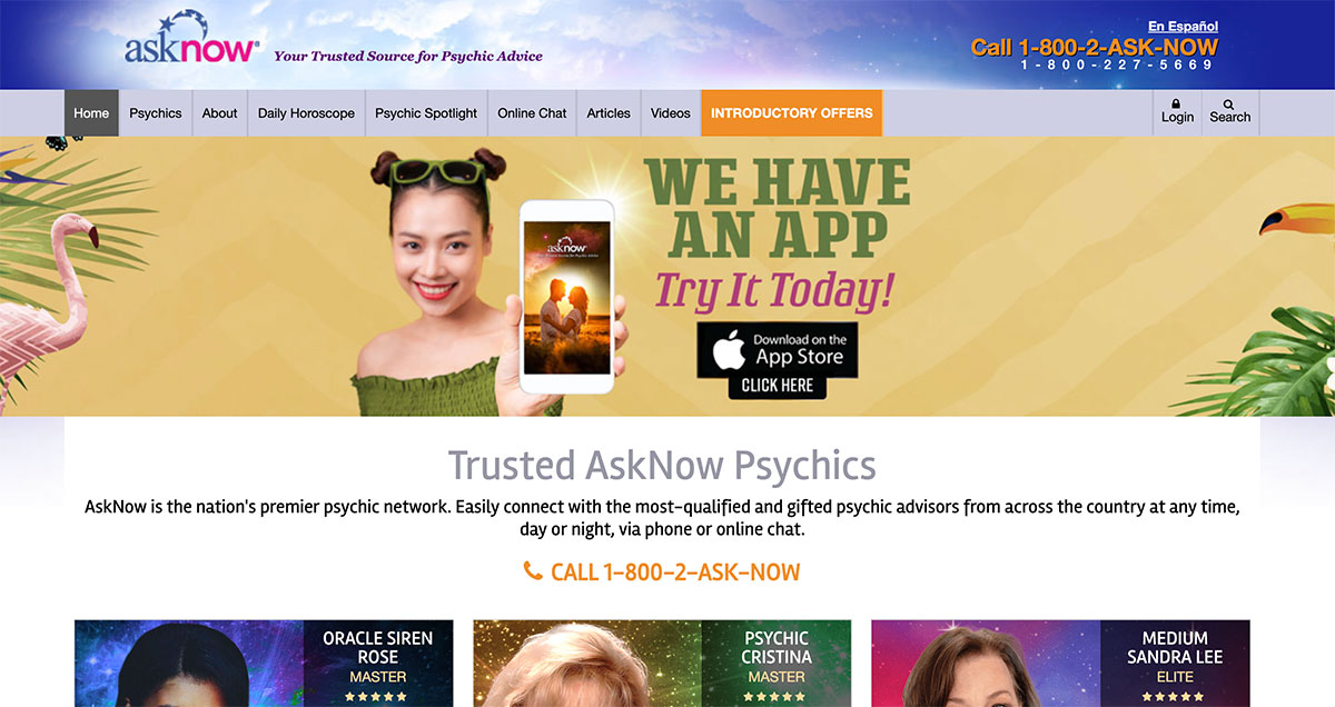 asknow website